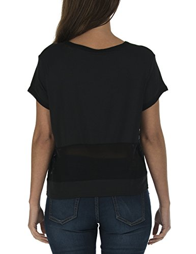 Bench Damen T-Shirt Stop Schwarz (Jet Black BK014)