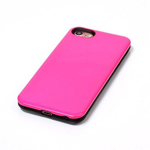 iPhone Case Cover Housse de protection IPhone 7, couleur solide plastique couverture de protection arrière pour Apple IPhone 7 ( Color : Rose , Size : IPhone 7 ) Rose