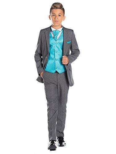 ungen Kostüm grau, Ende Kostüm passgenau, Seite Kostüm Jungen, 12–18Monate–13Jahre Gr. 14 Jahre, Tourqoise (Amp Anzug Kostüm)