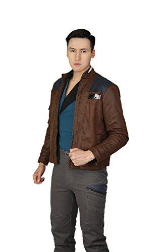 Xcoser Herren Jacke mit Top Shirt Film Cosplay Kostüm PU Leder Mantel für Erwachsene Herren Verrücktes Kleid Kleidung Merchandise (S)