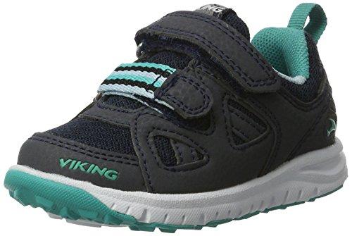 Viking - Riptide Ii, Scarpe sportive outdoor Unisex – Bambini Blau (Navy/Green)