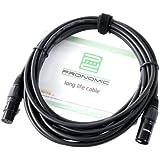 Pronomic 26590 - Cable para micrófono FX XLR (macho/hembra, 5 m), color negro