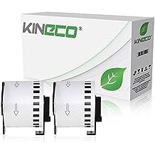 2x Endlos-Etikett kompatibel zu Brother DK22205 62mm x 30,48m für Brother P-Touch QL-500, 500A, 500BS, 500BW, 550, 560VP, 560YX, 570, 580N, 650TD, 710, 710W, 720NW, 1050N, 1060N