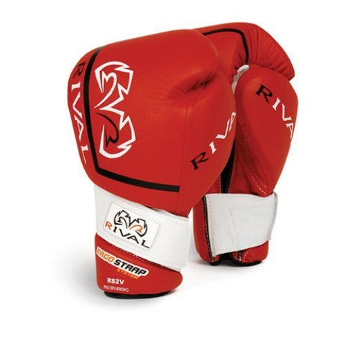 RIVAL RS2V-PRO RED SPARRING BOXING GLOVES - VELCRO