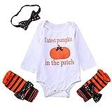 QUINTRA Halloween Cartoon Kürbis Strampler Outfits Kleidung Neugeborenes Baby Mädchen Langarmshirts