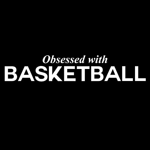Decal Serpent Aufkleber Obsessed with Basketball Sports Vinyl 6 Zoll, weiß -