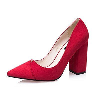 Talloni delle donne Primavera Estate Autunno Inverno Altro Fleece Wedding ufficio & carriera Party & Sera cuneo catena Heel Red