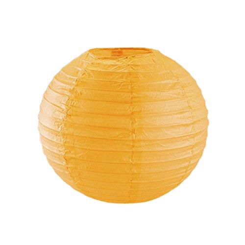 panisches/Chinesisches hängende Dekoration Papier Laternen Metall Rahmen für Partys, Home Lampen, Event (10Stück) von Super Z Auslass, Papier, Orange, 10