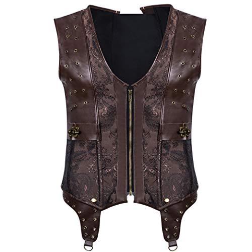 Mens Steampunk Kleidung Westen Weste Stahl ohne Knochen Longline Korsett Compression Shirt