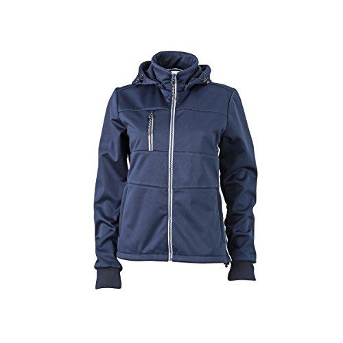JAMES & NICHOLSON - Veste softshell nautique - bateau - coupe-vent - imperméable - respirante - JN1077 - Femme Bleu Marine