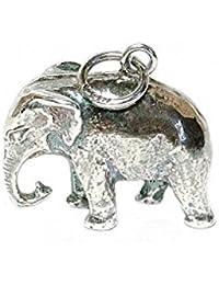 RETRO CHARMS: Vintage Finished Sterling Silver 925 Large Indian Elephant Charm/Pendant V54