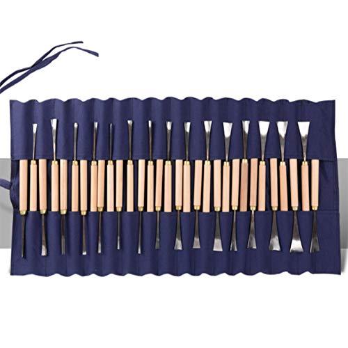 Holzschnitzerei Werkzeuge Set, Holzschnitzerei Messer, Holzschnitzerei Werkzeuge Set mit Aufbewahrungskoffer für DIY Skulptur Zimmermann Anfänger und Experten (31 Stück) (Auf Halloween Klopfen Nicht Sie)