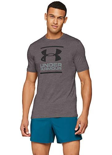 Under Armor UA GL Foundation SS T Shirt, Short Sleeve, Man, Gray, MD