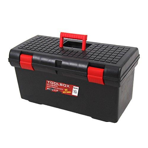 """Kunststoff Werkzeugkoffer Classic Basic 26""""', 58x29cm Kasten Werzeugkiste Sortimentskasten Werkzeugkasten Anglerkoffer - 4"""