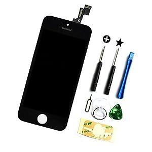Für Apple Iphone 5c LCD Display + Touchscreen Bildschirm Komplettset Glas mit Werkzeug Farbe: Schwarz