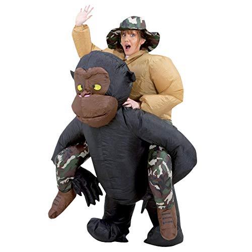 Original Cup Aufblasbare Gorilla-Affe Kostüm Neu - Premium Quality - Kostüm für Erwachsene Größe Polyester Bequem zu Tragen und Beständig - Mit Inflation - Gorilla Kostüm Für Jungen