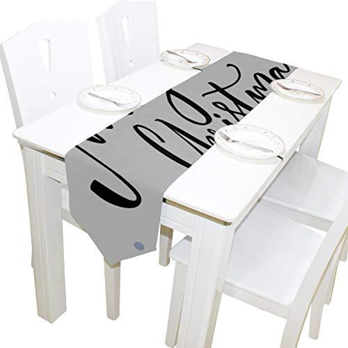 ohes Neues Jahr Brief Kommode Schal Tuch Abdeckung Tischläufer Tischdecke Tischset Küche Esszimmer Wohnzimmer Haus Hochzeit Bankett Dekor Indoor 13x90 Zoll ()