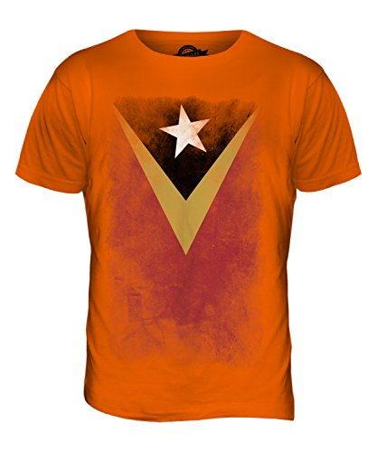 CandyMix Osttimor Verblichen Flagge Herren T Shirt Orange