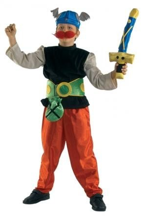 Kinder Gallierkostüm wie Asterix mit Schwert, Galatix, (Schwert Er Kostüm Mann)