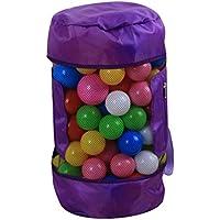 Mochila de Playa,STRIR Organizador Bolsa para Juguetes de Malla Gran Capacidad y Duradero,Bolsa de almacenamiento de juguetes,24 * 48CM (Púrpura)