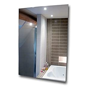 A3-Spiegel aus Acryl, bruchfest, sicherer Spiegel aus Kunststoff, Plexiglas, plastik, silber, 420 x 297mm