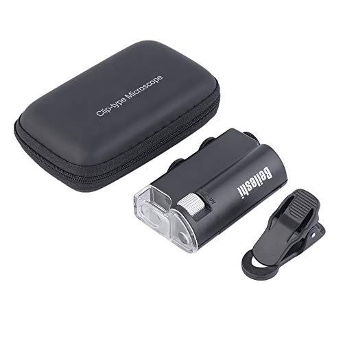 LED 60X-100X Lupe Währung Erkennung Schmuck Lupe Clip-on Mikroskop Brand New Worldwide Store - Schwarz Clip-on-lupe