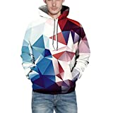 Piebo Jungen Digitaldruck Kapuzenpullover Tops Fashion Hoodie Pullover Hooded Sweatshirt Herren Tasche Lange Ärme Outwear Winter
