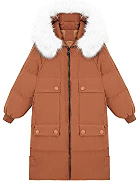 lime Chaqueta suelta de manga larga elegante invierno Abrigo cálido Moda mujeres rectas de largo Secciones abrigo...