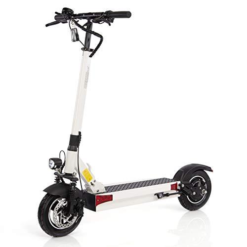 Wizzard Elektro City Scooter 2.5 Plus - 500 W Motor - 100 Km Reichweite - 40 Km/h - Alarmanlage (White)