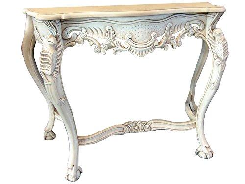 Legno Bianco Vintage : Tavolo consolle in legno di mogano tavolino barocco vintage