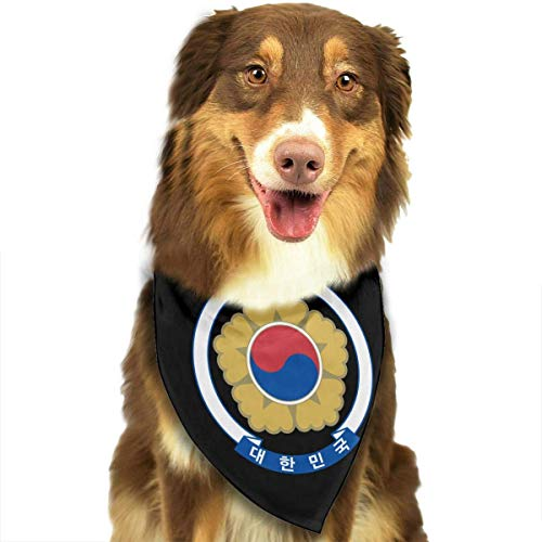 Gxdchfj Coat of Arms of South Korea Fashion Dog Bandana Pet Accessories Easy Wash Scarf Cashmere-arm