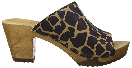 Woody Elly, Mules femme Multicolore - Mehrfarbig (Giraffe)