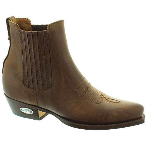 f8cc9a57457 Loblan - 298 Western Ankle Boots in Brown, 11 UK Adult