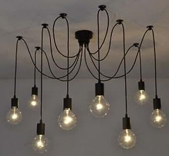 8W Led Edison Lustre Suspension Plafonnier Lampe Suspension Câble en tissu