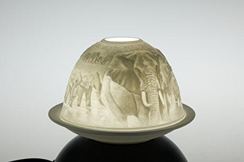 'Dome Light 'Elefante regalo Set Dome Light portavelas Porcelana
