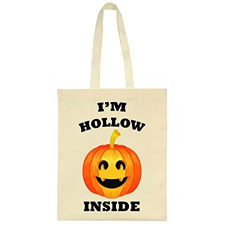 I'm Hollow Inside Funny Pumpkin Tote Bag