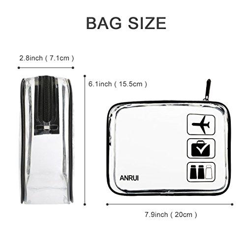 ANRUI Transparente Kulturtaschen TSA Kulturbeutel Genehmigt Reisen Weiter Air Airport Compliant Bag Quart Größe 3-1-1 Kit Reisegepäck Beutel 2 teile / paket (Standardgröße x2)
