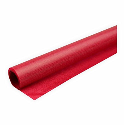 Transparentpapier 42g/m² 1 Rolle rot 70x100cm Drachenpapier
