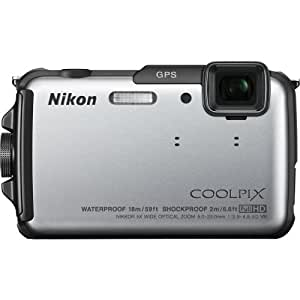 Nikon Coolpix AW110 16MP Point-and-Shoot Digital Camera (Blue) with 4GB Card, Camera Pouch, HDMI Cable