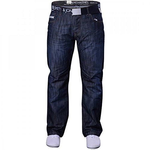 Men's Smith and Jones Designer Batusa Straight Leg Regular Fit Relaxed Denim Jeans Waist 32 Leg 32