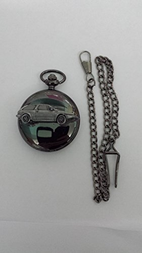 Volvo 480ref288Zinn Effekt Emblem poliert schwarz Fall Herren Geschenk Quarz Taschenuhr hergestellt in Sheffield