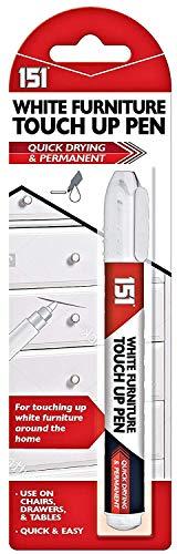 Rotulador permanente de color blanco para muebles, rotulador de retoque para...
