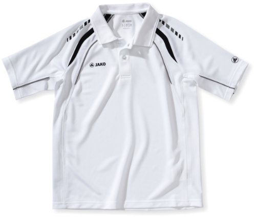 JAKO, Polo Uomo Classic Multicolore (weiß/schwarz/grau)