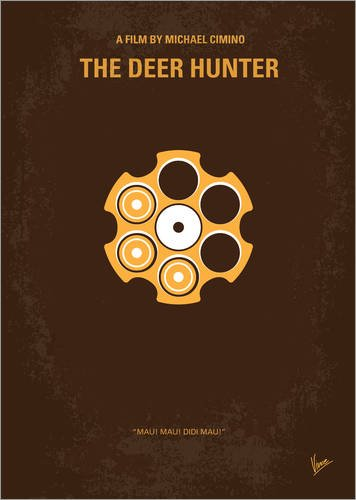 Alu Dibond 90 x 130 cm: No019 My Deerhunter minimal Movie Poster von chungkong