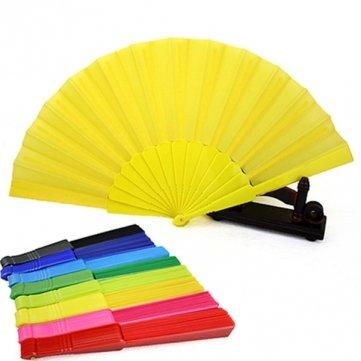Tragbare Folding Fan Sommer Plastic Hand Fans Wedding Party Favor