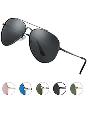 Elegear Gafas Aviador Hombre 2018 Gafas de sol Aviator polarizadas con estilo Redondo y Cuadrado, Marco de Aleación...