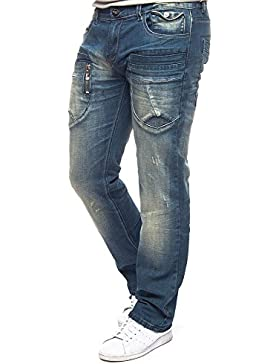M.O.D. MONOPOL Herren Jeans DANNY HAWAII BLUE Denim Blau Hose MOD Men