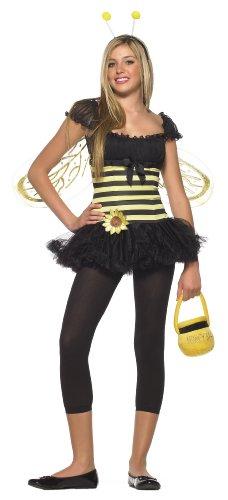 Bee Biene Kleid Kinder Mädchen Halloween Fasching Karneval Kostüm 140-152 (Beine Avenue Halloween)