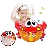 Haolv Divertente Bagno Musicale Bubble Maker Vasca da Bagno Piscina Sapone Macchina per Bambini Bagno Baby Bath Toys Bubble Crabs Giocattoli per i Bambini