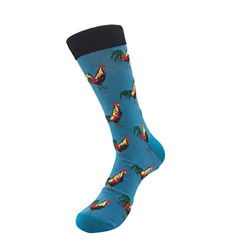 Bayliney 1 Paar Unisex BeiläUfig Baumwolle Socken Mode Herren Frau Taro Banane Raumschiff Muster Atmungsaktiv StrüMpfe Schlafen Sportlich Süß Karikatur Neuheit Komisch Tier Crew MäNner (B) -
